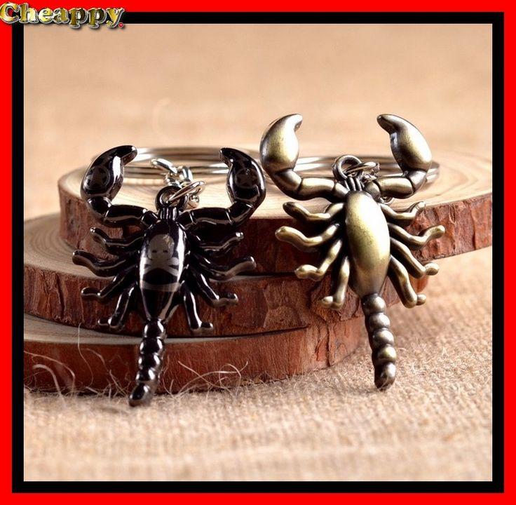 Schorpioen Sleutelhanger doodshoofd en bronskleur - Cheappy