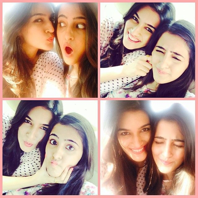 The pretty sister duo of Kriti and Nupur Sanon love to pose for the camera, See this photo diary of the two!