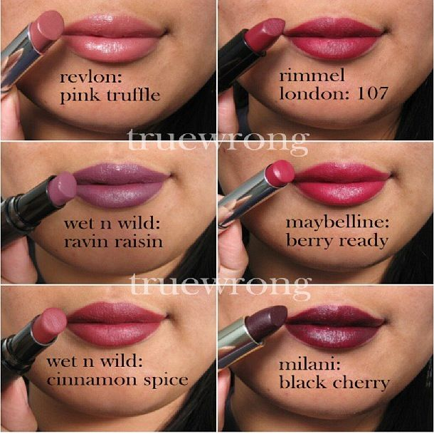 Maybelline/wet n wild/revlon/rimmel/milani lipsticks pink/mauve/berries lipstick swatches. I wanna try different colors other than pink.