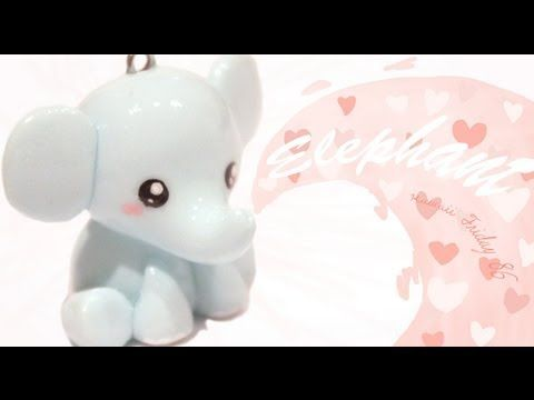 Kawaii Elephant Tutorial in Polymer Clay / Fimo