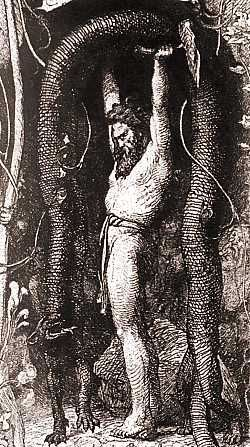 Thor lifting the Utgard cat - norse-mythology Photo