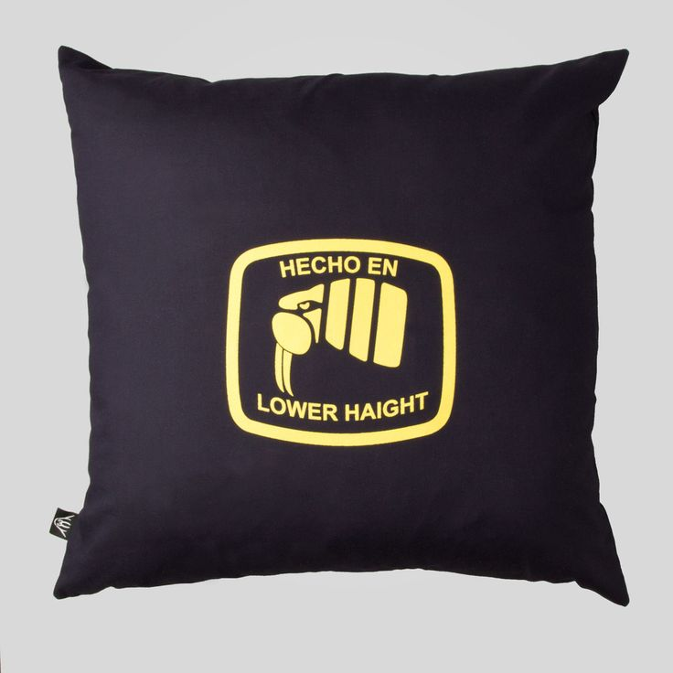 Upper Playground - Hecho Pillow in Navy #upperplayground @upperplayground #lowerhaight #fillmore #sf #hecho #pillow