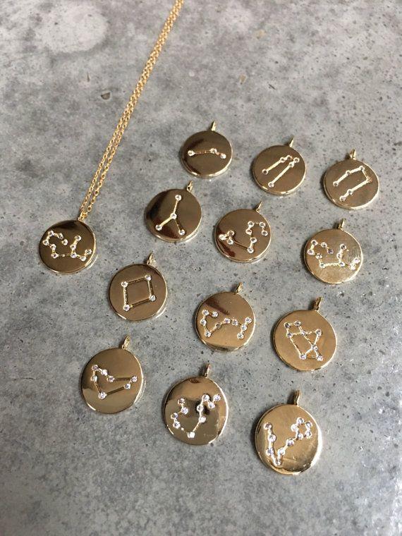 Zodiac sieraden astrologisch teken Zodiac ketting door BijouLimon