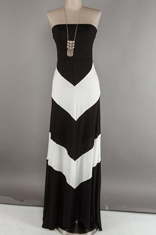 Black and White Color Blocked Dress | Happy Gal..love this!