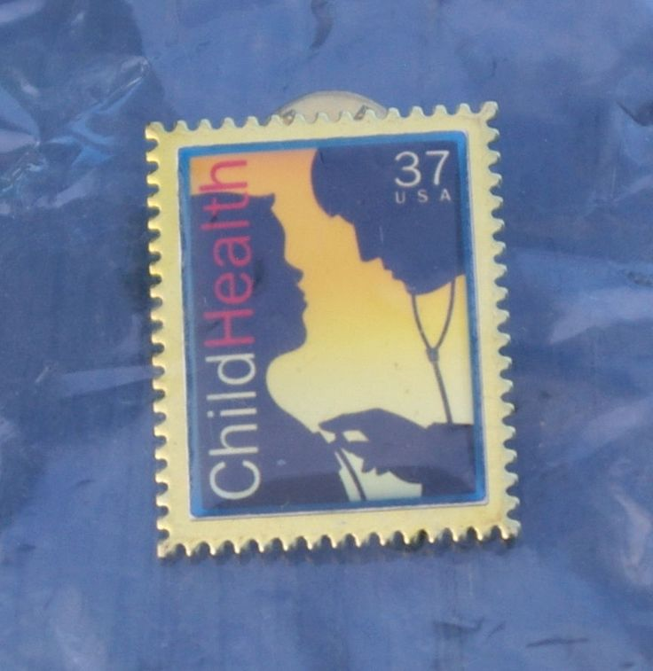 Child Health 37c USA US Postal Service USPS Post Office Stamp Pinback Lapel Pin  | eBay
