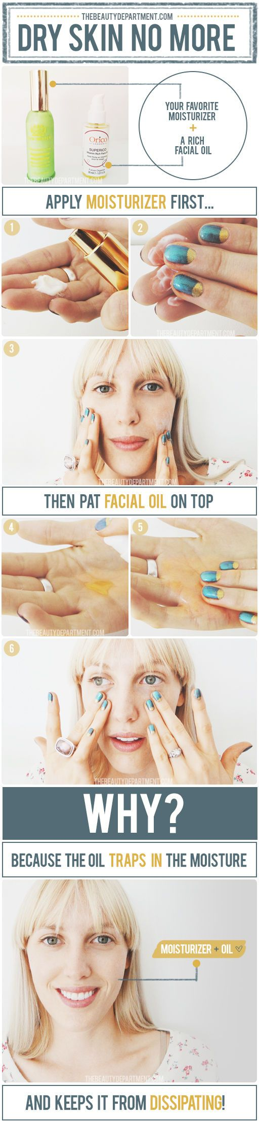Why a facial oil might actually clear up your skin. I always use oil in the winter! My skin has never looked better.