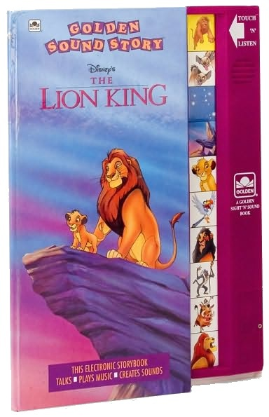 Lion King. I remember these books with sound effects! So fun.