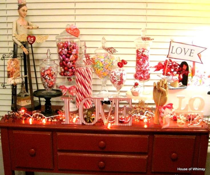 Best valentine candy bar set ups images on pinterest