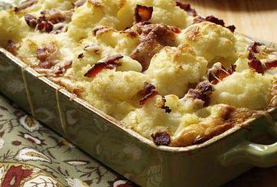 LCHF - Cauliflower Gratin - brug fløde i stedet for mælk og mel