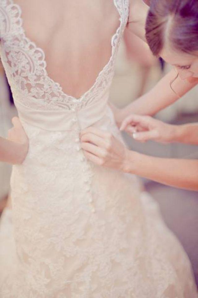 Vestido novia, linda espalda