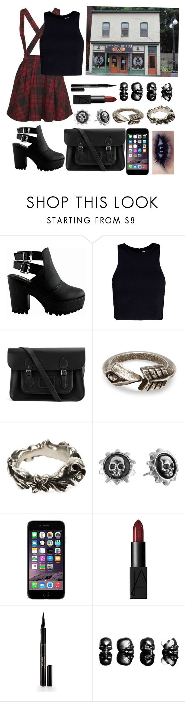 """""""Tattoo artist"""" by annairwin21 ❤ liked on Polyvore featuring Mini Cream, T By Alexander Wang, The Cambridge Satchel Company, TOMS, Werkstatt:München, King Baby Studio, NARS Cosmetics, Elizabeth Arden and Houghton"""