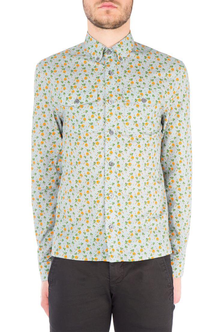 Camicia in cotone stampato