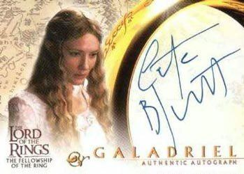 Lord of the Rings: Fellowship of the Ring Autographs Cate Blanchett