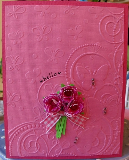 Card Making Ideas Using Cuttlebug Part - 33: Card Idea Using Butterfly Corner Embossing Folder By Darice And Sizzix  Butterflies U0026 Flowers Set