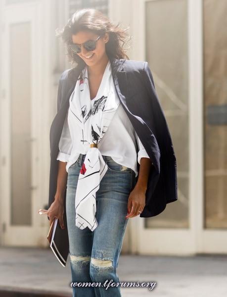 Garance Doré для EQUIPMENT белая рубашка + джинсы