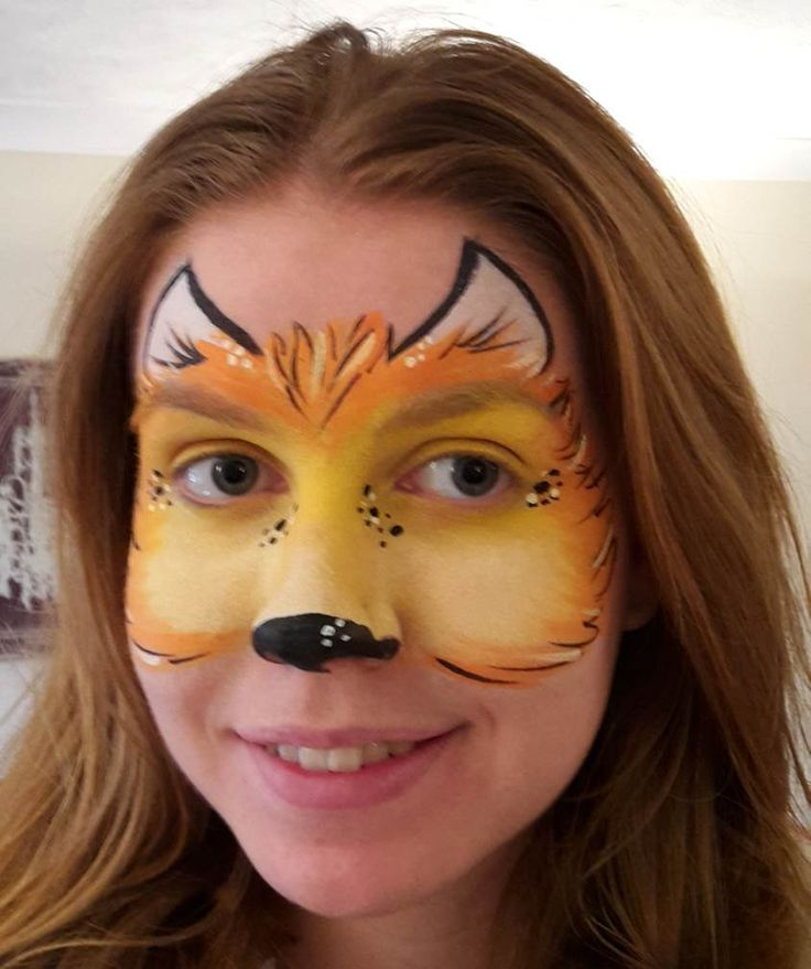 Freddy Fox - Peppa Pig face paint design character mask