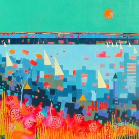 Summer Sail Acrylic on Canvas 100cms x 100cms