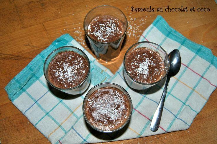 Semoule au chocolat et coco