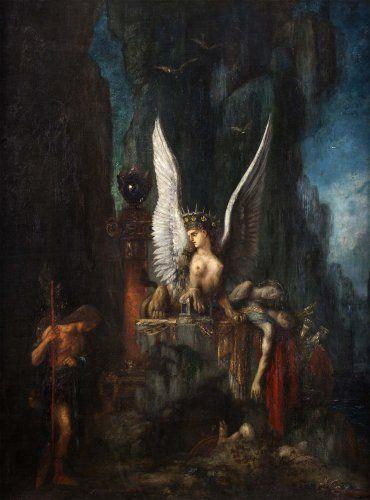 Gustave Moreau; Edipo e la Sfinge; 1888; olio su tela; Musée de la Cour d'Or, Metz (Francia).