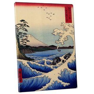 Hiroshige '36 views of Mount Fujiyama' Gallery Wrapped Canvas Wall Art