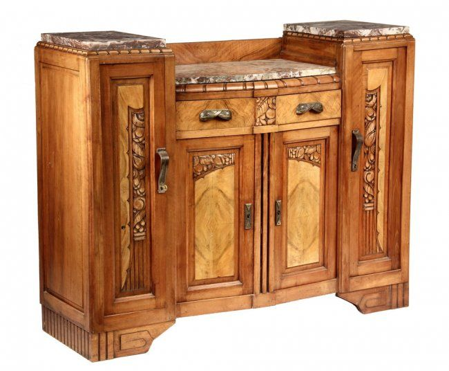 1930 architecture style | ART DECO CREDENZA - 1930s French International Style