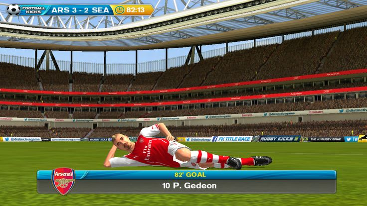 Have you got the new #Arsenal kit yet in #Football Kicks #TitleRace?   http://www.dmc-ops.com/fk2storelink.php