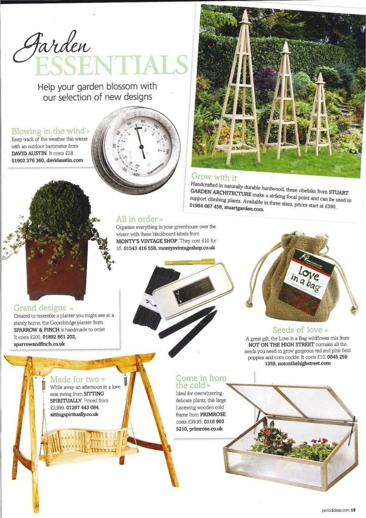 sparrow finch groombridge planter featured in period ideas february