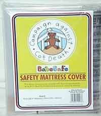 BabeSafe mattress cover. Mattress-wrapping has had a high success rate in preventing SIDS in New Zealand.