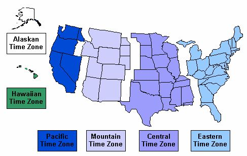 Us Time Zone Map Alaska