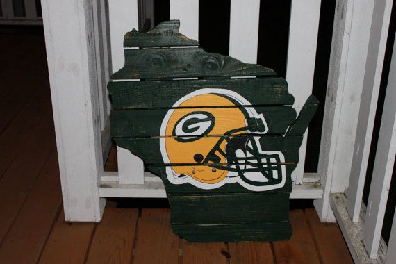 Green Bay Packers sign made from recycled by MonicasFavThings