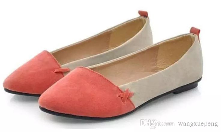 2016 Fashion Color Block Decoration Flat Heel Boat Shoes Color Block Pointed Toe Flat Loafers Gommini Cute Shoes Single Shoes Shoes Online Basketball Shoes From Wangxuepeng, $8.04| Dhgate.Com