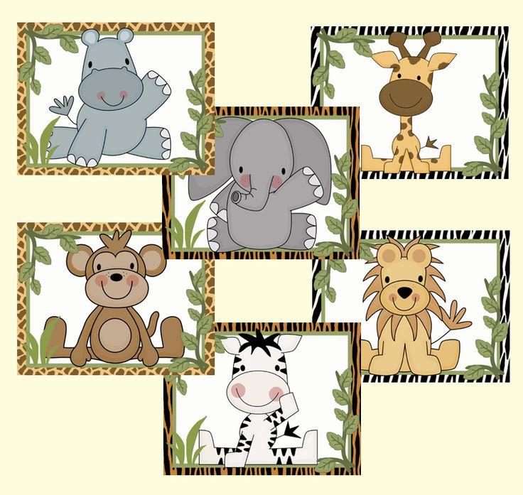 Safari Animal Wallpaper Wall Art Border Jungle Zoo Decal Sticker - Click Image to Close