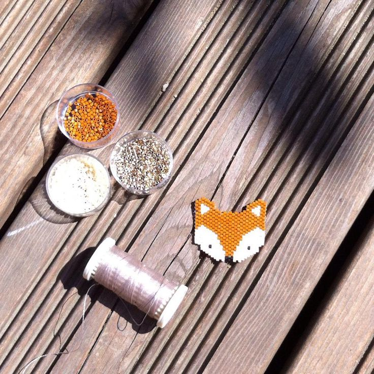 Un joli renard en perles miyuki !