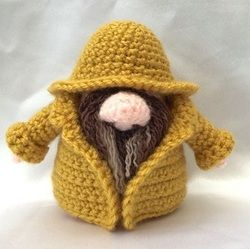 Fisherman Gonk Free crochet patterns for outfits to fit Santa Gonk A Gonk's Journey