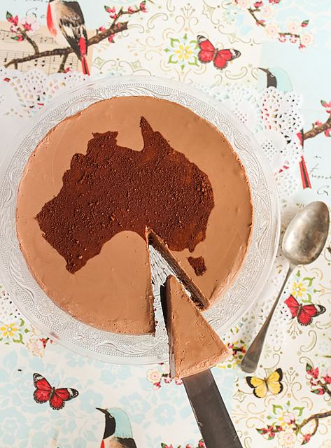 Milo Cheesecake with Chocolate Crackle Crust, celebrate Australia Day!