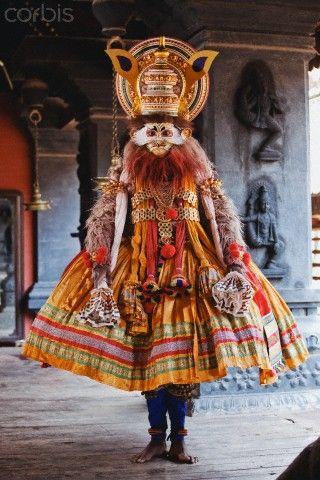 Kathakali dancer. INDIA