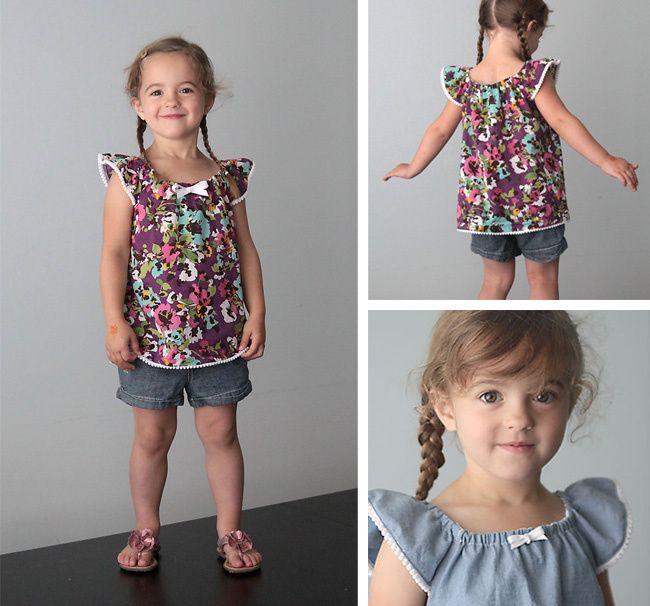 Tutorial y patronesTop o vestido de niña