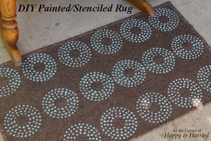 DIY Painted_Stenciled Rug
