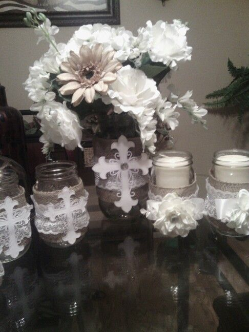 First communion decorations things i did pinterest for 1st communion decoration ideas