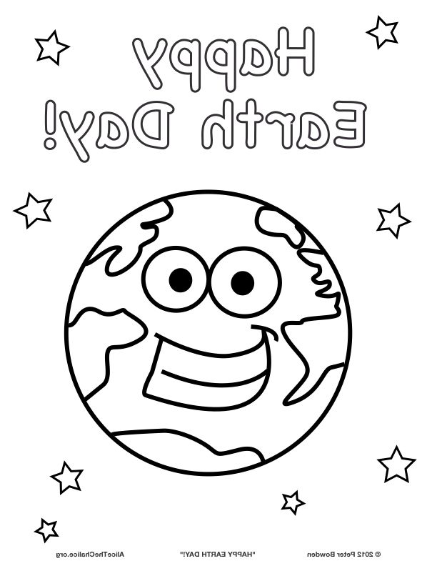 Earth Smiling With Human Kindness Coloring Pages For Kids Printable Day