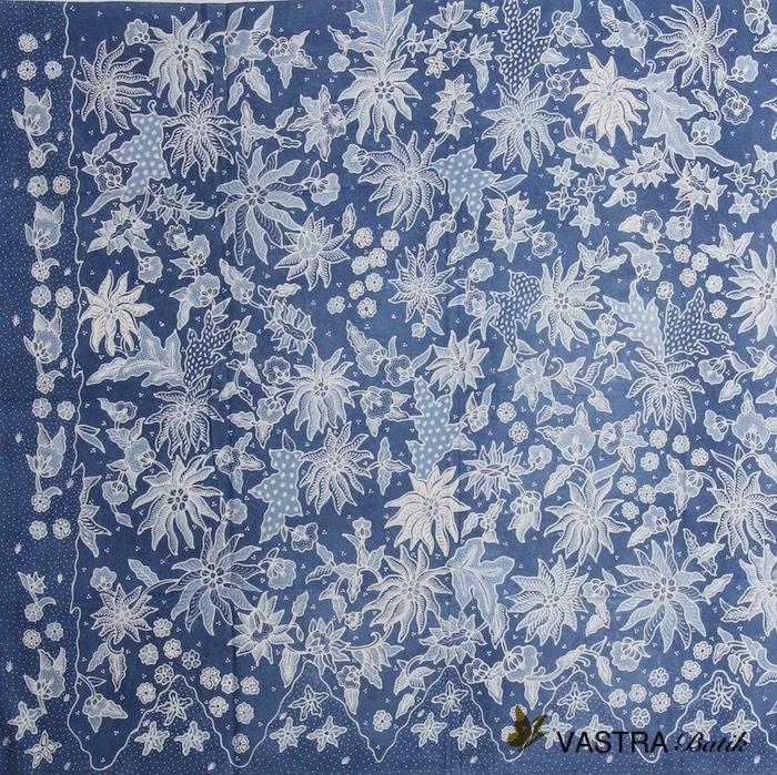 Batik Indigo         Primissima Cotton From Klaten, Central Java, Indonesia