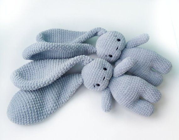 Crochet Long Ear Bunny Amigurumi Free Pattern DIY Magazine | 445x570