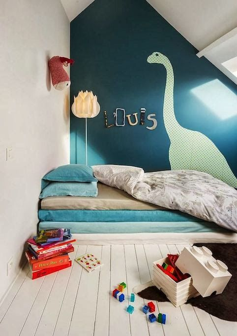 Lots of cute rooms. I like the accent wall and color in this image, and the bunk bed/loft of another