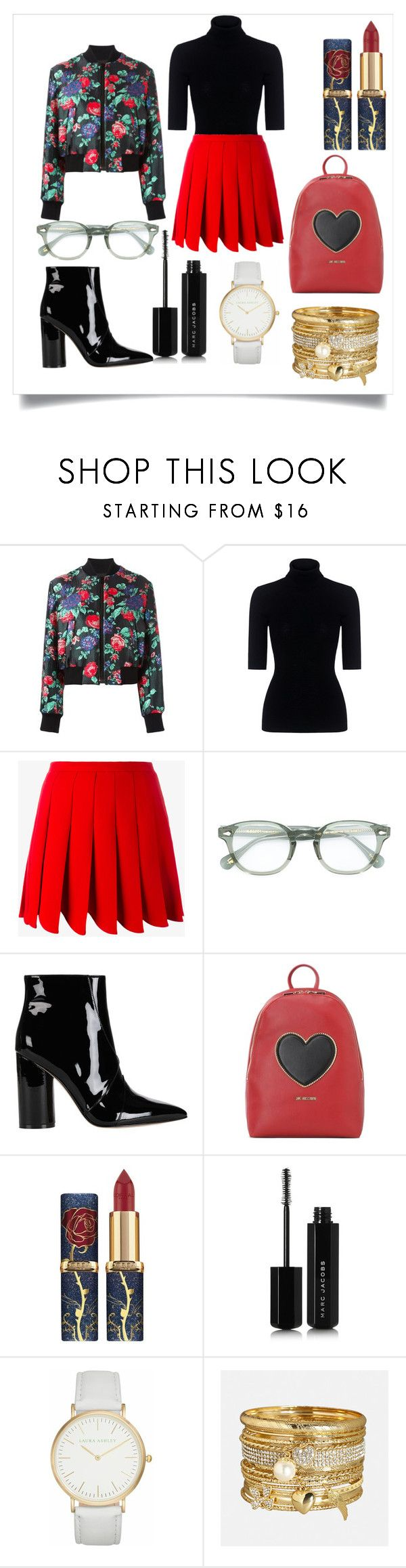 """""""Untitled #304"""" by dolrebeca ❤ liked on Polyvore featuring MSGM, Marissa Webb, Miu Miu, Moscot, Sigerson Morrison, Love Moschino, Marc Jacobs, Laura Ashley and Avenue"""