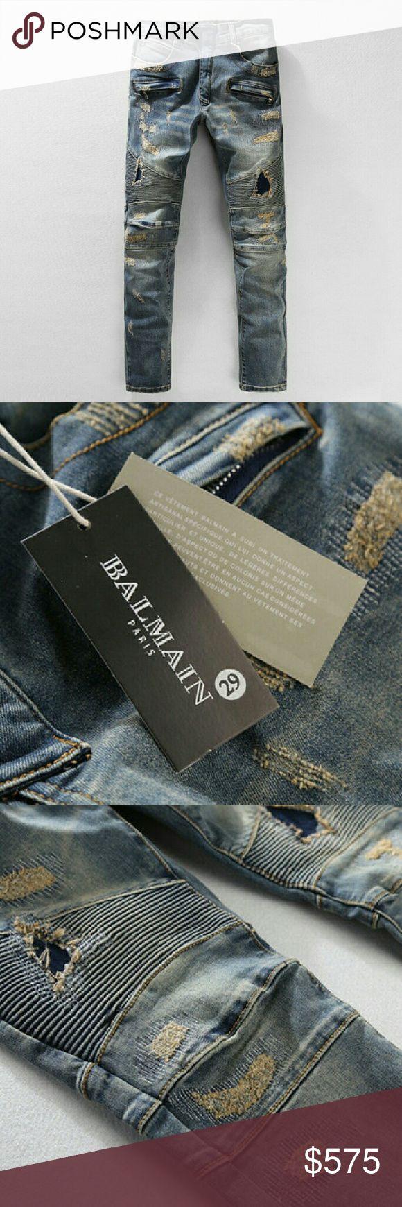 Balmain Jeans men Design your closet in style Balmain Jeans Slim Straight