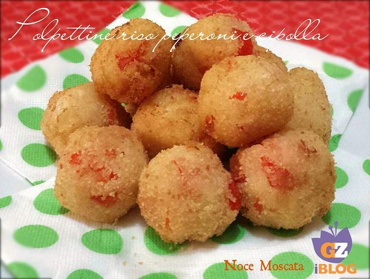 Polpette di riso basmati peperoni e cipolla / Senza uova