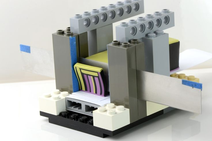 Best polymer clay cane slicer ever!what a brilliant idea I will be raiding the childrens lego and making something similar
