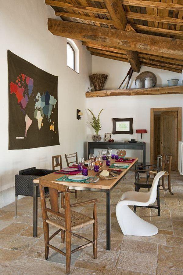 Rustic Italian Farmhouse InteriorsHouse InteriorsDining RoomsRustic