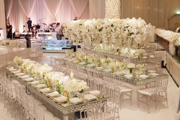 Venue: Beverly Wilshire Planner: International Event Company Event Design/Catering: The Olympic Collection Florist: Marks Garden Room Draping: Edge Design Decor Rentals: Harry's Party Rentals Band: West Coast Music DJ: DJ Yossi, 90210 Entertainment Sound: Design Sound Photographer: John Solano Photography Videography: Vidicam Lighting: Images by Lighting Cake: Joanie and Leigh's Cakes