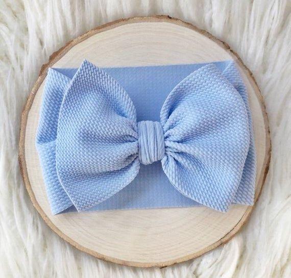 Baby Blue Toddler Bow Head Wrap Baby Newborn